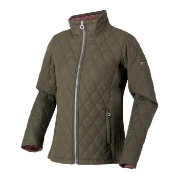 Regatta Women's Charna Insulated Diamond Quilted Jacket - Grape Leaf Ditsy