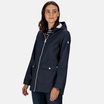 Regatta Women's Takala II Rubberised Waterproof Hooded Jacket - Navy