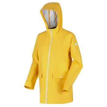 Takala II wasserdichter, gummierter Regenanzug mit Kapuze Gelb