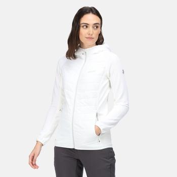 Andreson VI leichte, isolierte, gesteppte Hybrid-Wanderjacke mit Kapuze für Damen Weiß