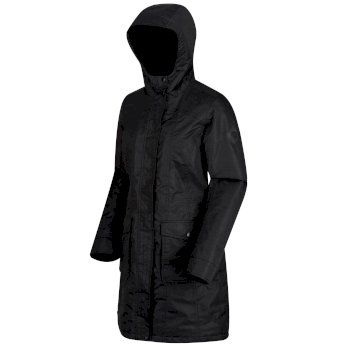 Regatta Roanstar II Breathable Waterproof Insulated Parka Jacket Black