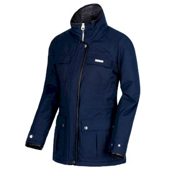 Laureen Waterproof Insulated Jacket Navy