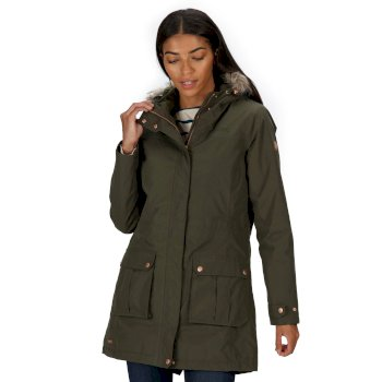 Sherlyn Waterproof Insulated Jacket Dark Khaki