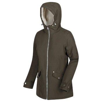 Bergonia - Damen Jacke - wasserdicht & isoliert Dark Khaki