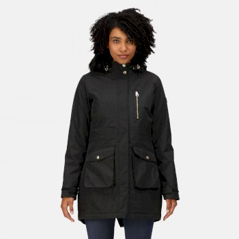 Regatta Women's Serleena Fur Trimmed Waterproof Insulated Jacket - Black