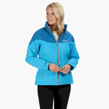 Regatta Womens Macken Waterproof Insulated Jacket - Atlantic Petrol Blue