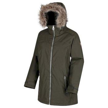Women's Myla Waterproof Insulated Jacket Dark Khaki