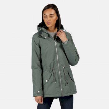 Brigid wasserdichte, isolierte Jacke mit Kapuze für Damen Grün