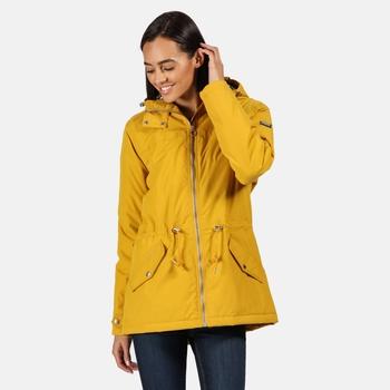 Brigid wasserdichte, isolierte Jacke mit Kapuze für Damen Gelb