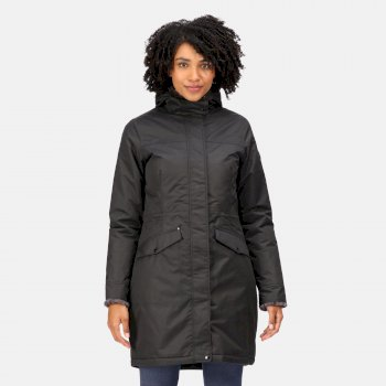 Regatta Women's Rimona Waterproof Insulated Hooded Parka Jacket - Black