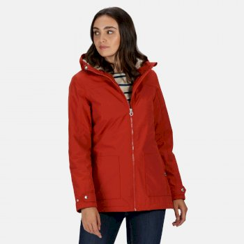 Regatta Women's Bergonia II Waterproof Insulated Hooded Jacket - Burnt Tikka