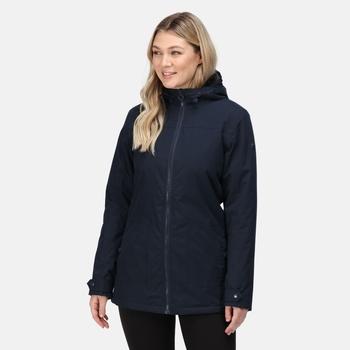 Bergonia II wasserdichte, isolierte Jacke mit Kapuze für Damen Blau