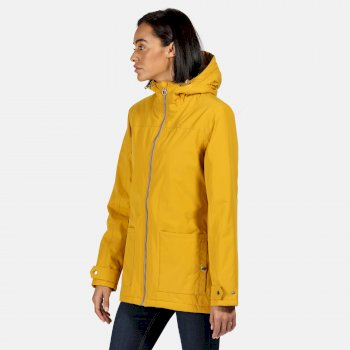 Regatta Women's Bergonia II Waterproof Insulated Hooded Jacket - Mustard Seed