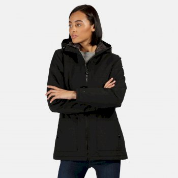 Regatta Women's Bergonia II Waterproof Insulated Hooded Jacket - Black