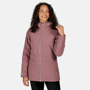 Regatta Women's Bergonia II Waterproof Insulated Hooded Jacket - Dusky Heather