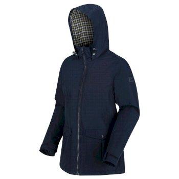 Myrrhine wasserdichte, isolierte Jacke mit Kapuze für Damen Blau