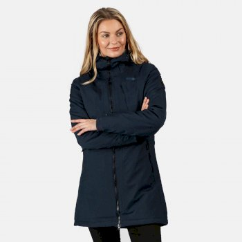 Regatta Women's Voltera II Waterproof Insulated Hooded Heated Walking Parka Jacket - Navy