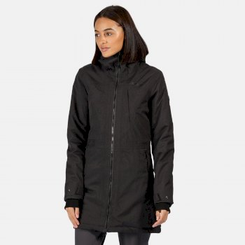Regatta Women's Voltera II Waterproof Insulated Hooded Heated Walking Parka Jacket - Ash