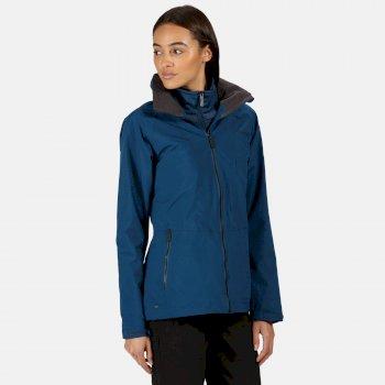 Shrigley wasserdichte, isolierte 3-in-1-Walkingjacke mit Kapuze für Damen Blau