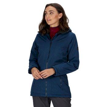 Rainow - Damen Jacke - Wasserdicht & Isoliert mit Kapuze Blau