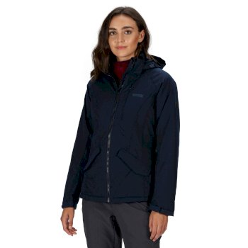 Highside V wasserdichte, isolierte Walkingjacke mit Kapuze für Damen Blau