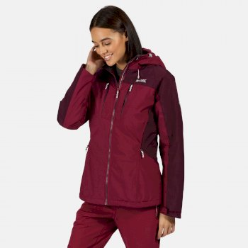 Highton Stretch wasserdichte, isolierte, wattierte Walkingjacke für Damen Lila