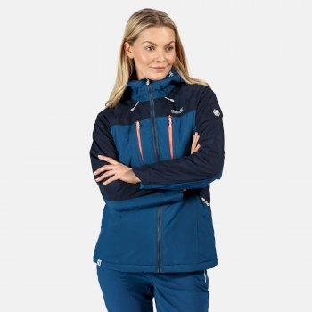 Highton Stretch wasserdichte, isolierte, wattierte Walkingjacke für Damen Blau