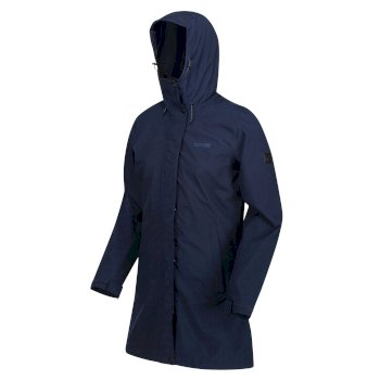 Denbury wasserdichte 3-in-1-Walkingjacke mit Kapuze für Damen Blau
