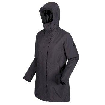 Denbury wasserdichte 3-in-1-Walkingjacke mit Kapuze für Damen Grau