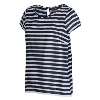 Jakayla Kurzarm-Shirt für Damen in Coolweave-Qualität navy-gestreift