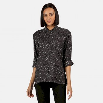 Kimberley Walsh Meera Long Sleeved Shirt - Black
