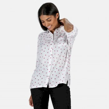 Meera Langarmshirt für Damen Weiß