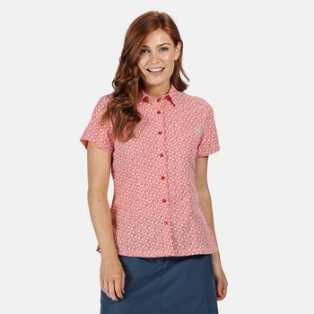 Mindano V Kurzarmhemd für Damen Rot