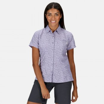 Mindano V Kurzarmhemd für Damen Lila