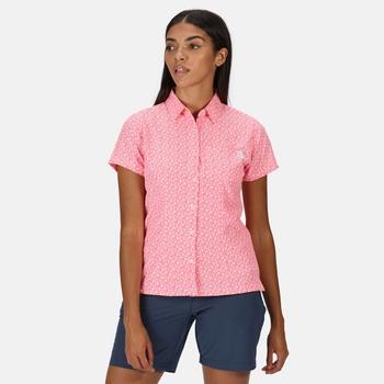 Mindano V Kurzarmhemd für Damen Rosa