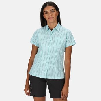 Mindano V Kurzarmhemd für Damen Blau