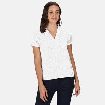 Jacinda Top mit V-Ausschnitt für Damen Weiß
