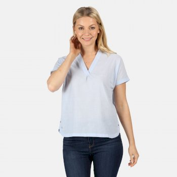Regatta Women's Jacinda V-Neck Top - Blue Skies