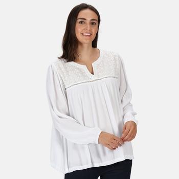 Regatta Women's Calixta Long Sleeved Broiderie Shirt - White
