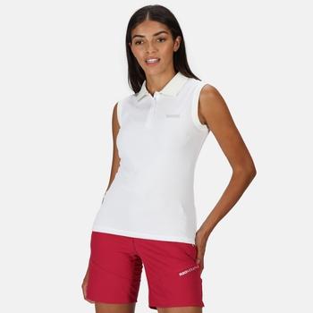 Tima Piqué-Weste für Damen mit Stehkragen Weiß
