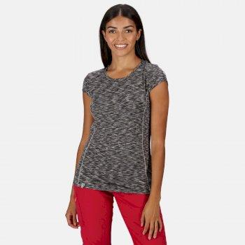 Hyperdimension schnell trocknendes T-Shirt für Damen Schwarz