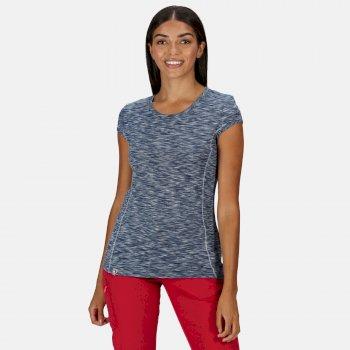 Hyperdimension schnell trocknendes T-Shirt für Damen Blau