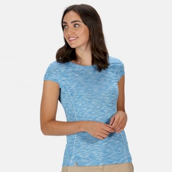 Regatta Women's Hyperdimension Quick Dry T-Shirt - Blue Aster