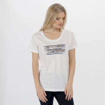 Regatta Filandra II Coolweave Cotton T Shirt White