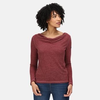 Frayda leichtes Wollshirt für Damen Lila