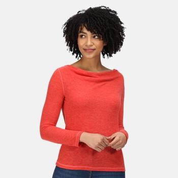 Frayda leichtes Wollshirt für Damen Orange