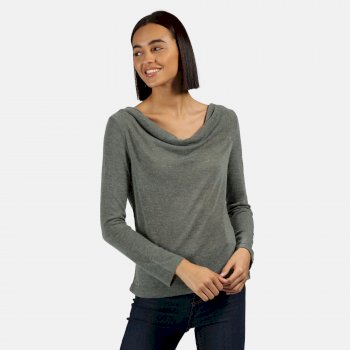 Regatta Frayda Lightweight Wool Look Top Balsam Green