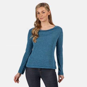 Frayda leichtes Wollshirt für Damen Blau
