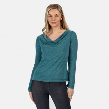 Regatta Women's Frayda Lightweight Cowl Neck Top - Blue Sapphire