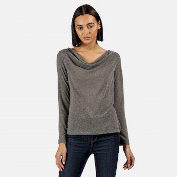 Frayda leichtes Wollshirt für Damen Grau